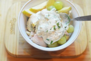 Полезный куриный салат - фото шаг 8