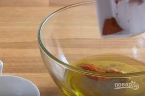 Вегетарианский салат с сырыми шампиньонами - фото шаг 1