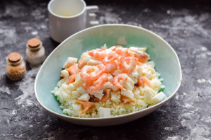 Салат с рисом и морепродуктами - фото шаг 5