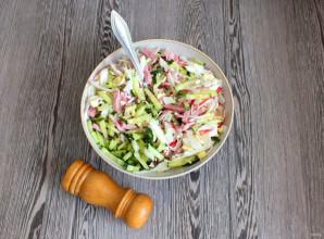Салат из крабовых палочек и ветчины - фото шаг 4