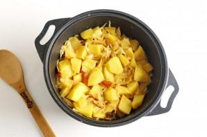 Овощное рагу с картошкой - фото шаг 9