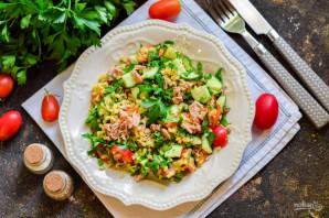 Салат с булгуром и тунцом - фото шаг 8
