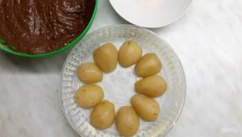 Простой шоколадный пирог с грушами - фото шаг 3