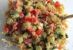 Салат с булгуром и овощами - фото шаг 3