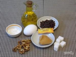 Арахисовый пирог с орехами и шоколадом - фото шаг 1