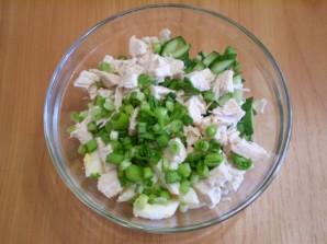 Салат с семечками и курицей - фото шаг 5