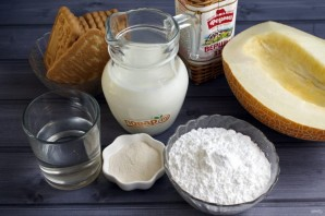 Муссовый торт с дыней и йогуртом - фото шаг 1