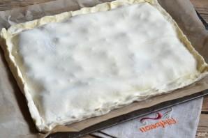 Вишневый пирог из слоеного теста - фото шаг 4