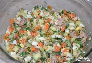 Салат с печенью трески - фото шаг 5