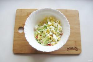 Салат с дайконом и крабовыми палочками - фото шаг 4
