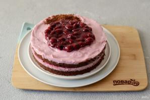 Постный вишневый торт - фото шаг 14