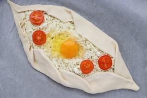 Пиде с сыром и яйцом - фото шаг 9
