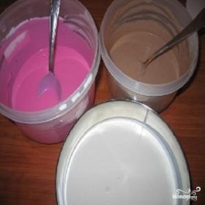 Полосатый творожный десерт - фото шаг 1