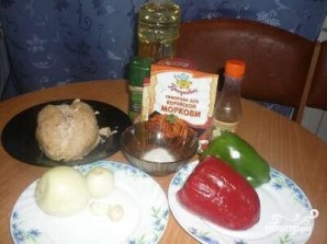 Курица Хе с болгарским перцем - фото шаг 1