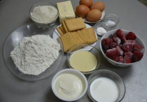 Дырявый пирог с клубникой - фото шаг 1
