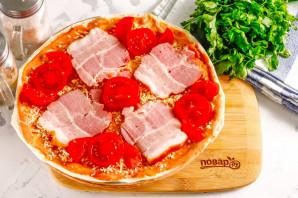 Пицца из лаваша в микроволновке - фото шаг 5