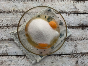 Заливной пирог с мандаринами - фото шаг 3