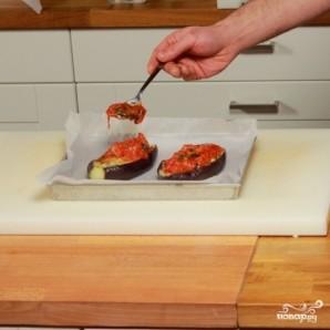 Баклажаны, фаршированные помидорами и сыром - фото шаг 7