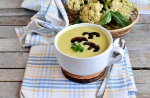 Суп-пюре с цветной капустой и шампиньонами - фото шаг 5