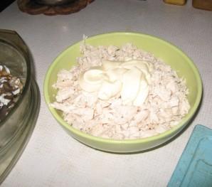 Легкий салат с грибами - фото шаг 2