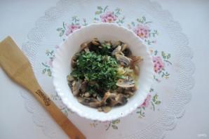 Салат с мясом и жареными шампиньонами - фото шаг 11