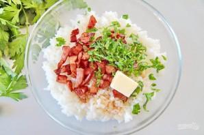 Японские рисовые шарики с сыром - фото шаг 3