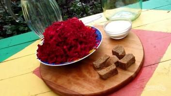 Квас из красной свеклы - фото шаг 1