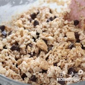 Пирожные с воздушным рисом и зефиром - фото шаг 5
