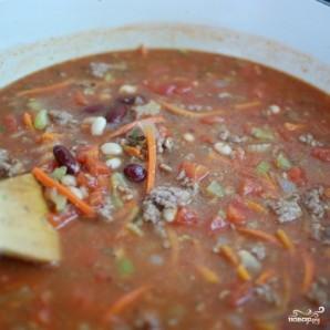 Густой итальянский томатный суп с макаронами и фаршем - фото шаг 10