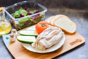 Салат с курицей и сухариками - фото шаг 1