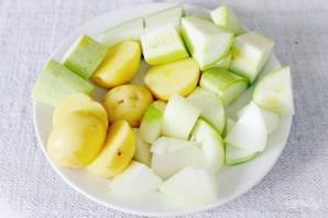 Баранина маринованная и запеченная в рукаве с овощами - фото шаг 4
