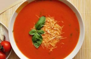 Томатный суп с сыром - фото шаг 6