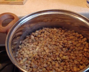 Суп с грибами и чечевицей   - фото шаг 1