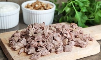 Салат из вареной говядины - фото шаг 1
