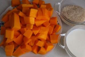 Каша из тыквы с рисом и молоком - фото шаг 1