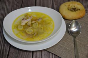 Куриный суп с чесночными галушками - фото шаг 12