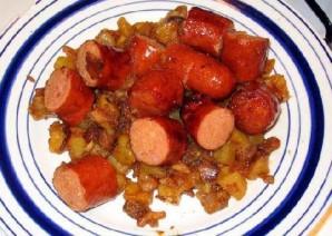 Жареная колбаса с картофелем  - фото шаг 16