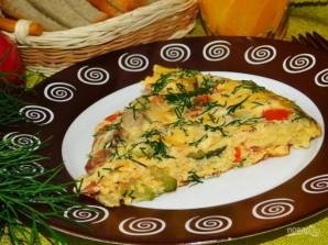 Мясной омлет с кабачками и помидорами - фото шаг 5