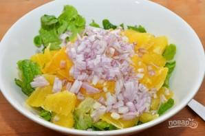 Апельсиновый салат с зеленью - фото шаг 4
