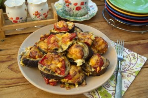 Баклажаны, запеченные с помидорами и грибами - фото шаг 6