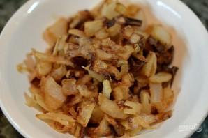 Гречка с тимьяном, хрустящим луком и грибами - фото шаг 9