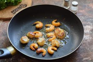 Салат из гребешков с рукколой - фото шаг 2