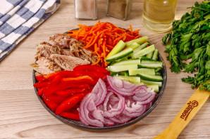 Салат кучками с корейской морковкой - фото шаг 4