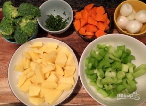 Суп с овощами и куриной грудкой - фото шаг 1