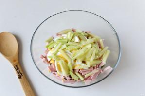 Салат из стручковой фасоли с колбасой - фото шаг 7