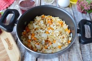 Перловая каша с фасолью, тыквой и беконом - фото шаг 5