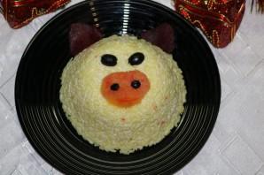 Рисовый салат на Новый год Свиньи - фото шаг 9