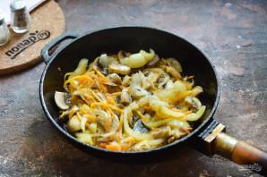 Салат с кинзой и грибами - фото шаг 5