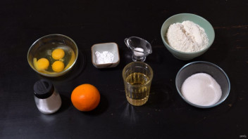 Апельсиновый пирог с цедрой - фото шаг 1