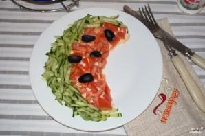 Салат в виде арбуза - фото шаг 8
